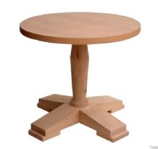 Tempo Wooden Single Coffee Table Base